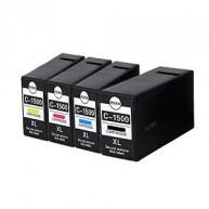 Set 4 cartuse Canon PGI-1500XL, PGI-1500XLBK, PGI-1500XLC, PGI-1500XLM, PGI-1500XLY, compatibile 9182B004