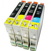 Set 4 cartuse compatibile Epson T0611 T0612 T0613 T0614