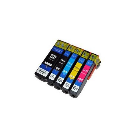 Set 5 cartuse Epson T2621 T2631 T2632 T2633 T2634 26 XL compatibile