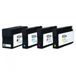 Set 4 cartuse compatibile HP 933XL/932XL