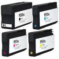 Set 4 cartuse imprimanta HP 950XL Black/951XL Cyan/951XL Magenta/951XL Yellow compatibile