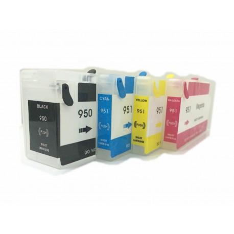 Set 4 cartuse reincarcabile HP 950XL/951XL autoresetabile compatibile