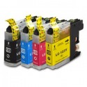 Set 4 Cartuse Brother LC123 compatibile