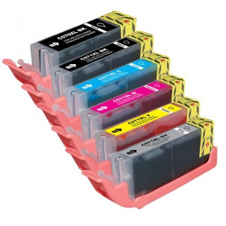 Set 6 cartuse Canon PGI-570XL BK CLI-571XL BK CLI-571XL Cyan CLI-571XL Magenta CLI-571XL Yellow CLI-571XL Grey compatibile