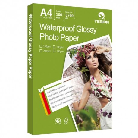 Hartie foto A4 Waterproof Glossy 260g/mp 50 coli