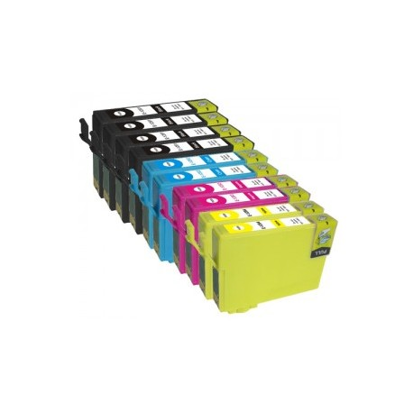 Set 10 cartuse compatibile Epson T1281/T1282/T1283/T1284