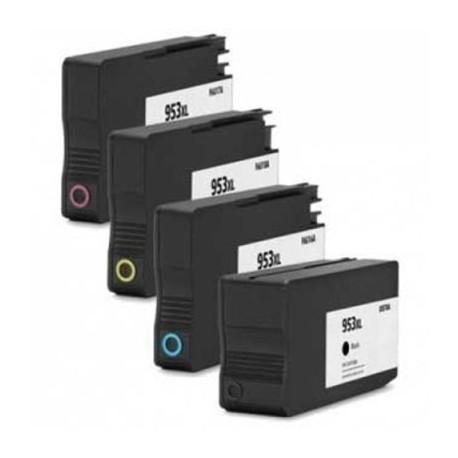 Set 4 cartuse HP 953XL compatibile L0S70AE F6U16AE F6U17AE F6U18AE