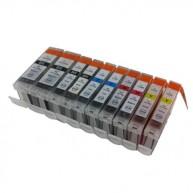 Set 10 cartuse compatibile Canon PGI-5BK-CLI8BK-CLI8Y-CLI8C-CLI8M