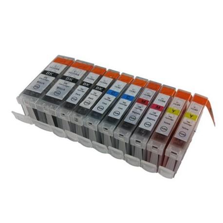 Set 10 cartuse compatibile Canon PGI-5BK/CLI8BK/CLI8Y/CLI8C/CLI8M