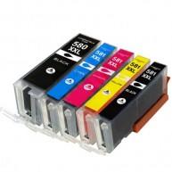 Set 5 cartuse compatibile Canon PGI-580XXL-CLI-581XXL