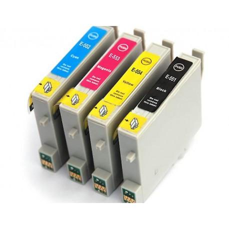 Set 4 cartuse compatibile Epson T0551 T0552 T0553 T0554